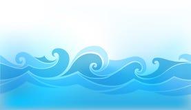 Abstrakt bakgrund med den stiliserade vågen Arkivbild