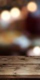 Abstrakt bakgrund med den tomma tabellen Royaltyfria Foton