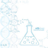 Abstrakt bakgrund med DNAmolekylstrukturen Arkivbilder