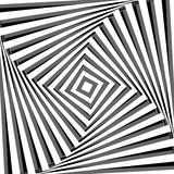 Abstrakt bakgrund med effekt för optisk illusion. Arkivbilder