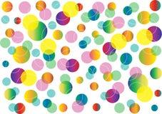 Abstrakt bakgrund med färgcirklar Arkivbilder