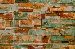 Abstrakt bakgrund med färgrika dekorativa tegelplattor Royaltyfri Foto