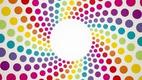 Abstrakt bakgrund med färgrika roterande prickar