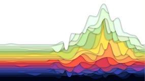 Abstrakt bakgrund med färgrikt i lager papper, vektorillustration stock illustrationer