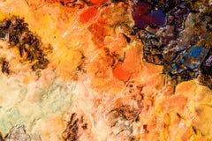 Abstrakt bakgrund med färgvätsketextur Royaltyfri Bild
