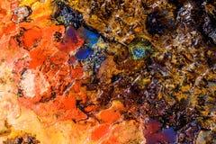 Abstrakt bakgrund med färgvätsketextur Fotografering för Bildbyråer