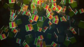 Abstrakt bakgrund med fallande kvarter arkivfilmer