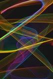 Abstrakt bakgrund med flyttning tänder slingor Fotografering för Bildbyråer