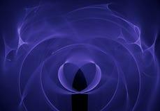 Abstrakt bakgrund med fractalhjärta Digital collage Arkivbild