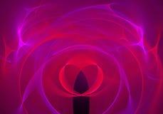 Abstrakt bakgrund med fractalhjärta Digital collage Royaltyfri Bild