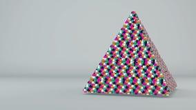 Abstrakt bakgrund med futuristisk färgrik pyramide stock illustrationer