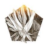 Abstrakt bakgrund med genomskärning av geometriska former Arkivfoto