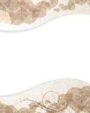 Beige bakgrund med petals mönstrar royaltyfri illustrationer