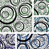 Abstrakt bakgrund med geometriska beståndsdelar vektor illustrationer