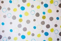 Abstrakt bakgrund med geometriska beståndsdelar och linjer av differe Arkivbilder