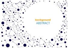 Abstrakt bakgrund med geometriska modeller, för webbsida och design Royaltyfri Illustrationer
