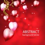 Abstrakt bakgrund med glänsande färgrika ballonger med Bokeh E Royaltyfri Foto
