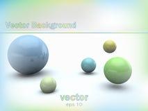 Abstrakt bakgrund med glansiga bollar 3d Royaltyfri Fotografi