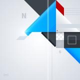 Abstrakt bakgrund med glansiga geometriska former Arkivfoton