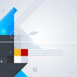 Abstrakt bakgrund med glansiga geometriska former Arkivbilder