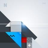 Abstrakt bakgrund med glansiga geometriska former Arkivfoto