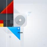 Abstrakt bakgrund med glansiga geometriska former Royaltyfria Foton