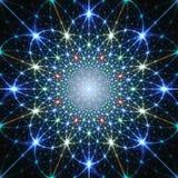 Abstrakt bakgrund med gnistor, stjärnor och strålar Arkivfoton