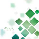 Abstrakt bakgrund med gröna fyrkanter Royaltyfria Bilder