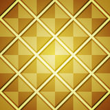 Abstrakt bakgrund med guld- fyrkanter Arkivfoto