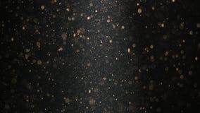 Abstrakt bakgrund med härliga flimrande partiklar Undervattens- bubblor i flöde med bokeh Royaltyfri Fotografi