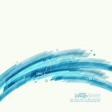 Abstrakt bakgrund med hörnet för blåa band Arkivbilder