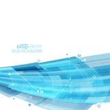 Abstrakt bakgrund med hörnet för blåa band Royaltyfri Fotografi