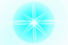 Abstrakt bakgrund med havsstjärnan Blommaljus Arkivfoton