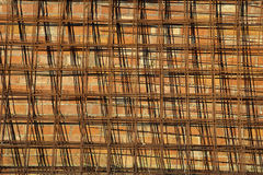 Abstrakt bakgrund med ingreppet och tegelstenar Fotografering för Bildbyråer
