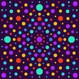 Abstrakt bakgrund med isolerade ljusa cirklar Arkivfoto