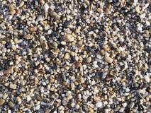 Abstrakt bakgrund med kiselstenar - runda havsstenar Arkivfoto