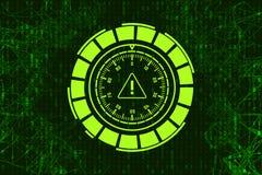 Abstrakt bakgrund med låset och intrig För Usb design för illustration för pråligt minne och tangent Brott på internet Antivirus  Royaltyfri Bild