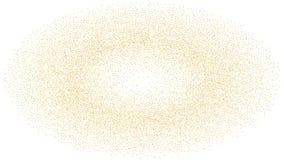 Abstrakt bakgrund med många slumpmässiga fallande guld- små konfettier på bakgrund vektor illustrationer