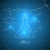 Abstrakt bakgrund med molekylstrukturen Arkivfoton