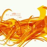 Abstrakt bakgrund med orange band Arkivbild