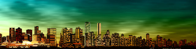 Abstrakt bakgrund med panorama av vancouver Royaltyfria Foton