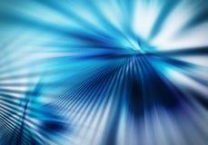 Abstrakt bakgrund med raka strålar av fördelande ljus i blå färg stock illustrationer