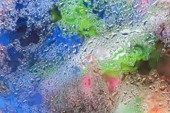 Abstrakt bakgrund med regndroppar, suddig stil Livliga toner för modern modell-, tapet- eller banerdesign med Arkivbilder