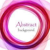 Abstrakt bakgrund med rosa färger och lilor vinkar i form av en cirkel stock illustrationer