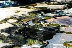 Abstrakt bakgrund med sjöar på bergfloden Royaltyfri Foto