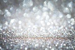 Abstrakt bakgrund med slät rundad bokeh tänder cirklar Royaltyfri Foto