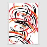 Abstrakt bakgrund med spirala former stock illustrationer