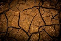 Abstrakt bakgrund med sprucken jord Royaltyfria Bilder