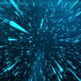 Abstrakt bakgrund med stjärnan snedvrider eller Hyperspace Abstrakt exploderande effekt Hyperspace lopp Begreppet av utrymme Royaltyfri Bild
