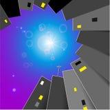 Abstrakt bakgrund med stjärnor royaltyfri illustrationer